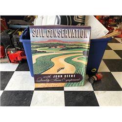 NO RESERVE JOHN DEERE SOIL CONSERVATION SIGN