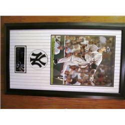 ALEX RODRIGUEZ SIGNED FRAMED MLB PRINT NY YANKEES