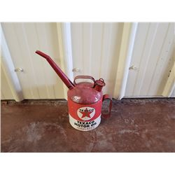 NO RESERVE VINTAGE TEXACO MOTOR OIL JERRY CAN