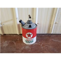 NO RESERVE LARGE TEXACO MOTOR OIL CUSTOM JERRY CAN