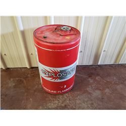 NO RESERVE VINTAGE EXPLOSAFE GAS BARREL