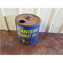 NO RESERVE VINTAGE, RARE COLLECTIBLE PLANTERS PEANUT OIL CAN