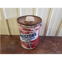 NO RESERVE VINTAGE, RARE COLLECTIBLE PRESTONE ANTI FREEZE 5 GALLON BARREL