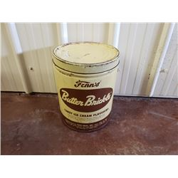 NO RESERVE VINTAGE RARE BUTTER BRICKLE ICE CREAM FLAVORING 5 GALLON BARREL