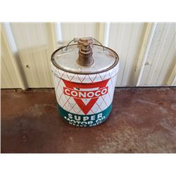 NO RESERVE VINTAGE RARE CONOCO SUPER MOTOR OIL JERRY CAN