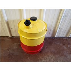 NO RESERVE CUSTOM ONE OF A KIND YELLOW AND RED JERRY CAN