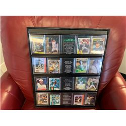 NO RESERVE MLB BASEBALL CARDS FRAMED TOTAL OF 16 SELLING AS ONE LOT