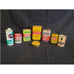 NO RESERVE VINTAGE COLLECTIBLE VEHICLE POLISH AND WAXING CANS