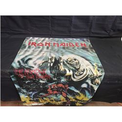 NO RESERVE IRON MAIDEN THE NUMBER OF THE BEAST FLAG