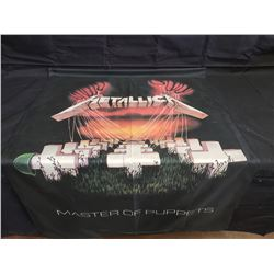 NO RESERVE METALLICA FLAG MASTER OF PUPPETS