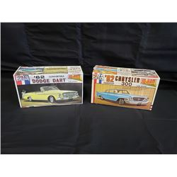 NO RESERVES TWO MODEL CAR KITS COLLECTIBLE 1962