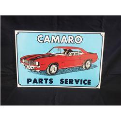 NO RESERVE VINTAGE CAMARO PARTS COLLECTIBLE SIGN