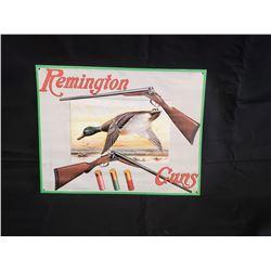 NO RESERVE  COLLECTIBLE REMINGTON GUNS SIGN