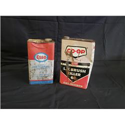 NO RESERVE VINTAGE CANS ESSO AND CO OP