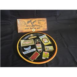 NO RESERVE COLLECTIBLE SERVING TRAY AND BONUS SIGN