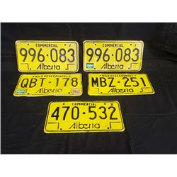 NO RESERVE SET OF 20 COLLECTIBLE ALBERTA LICENSE PLATES SELLING AS ONE LOT