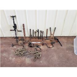 NO RESERVE ASSORTMENT OF ANTIQUE TOOLS