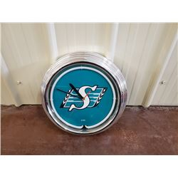 NO RESERVE SASKATCHEWAN ROUGHRIDERS CLOCK