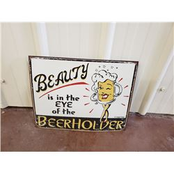 NO RESERVE COLLECTIBLE SIGN BEERHOLDER