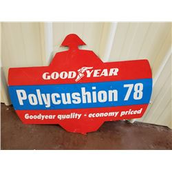 NO RESERVE COLLECTIBLE SIGN GOOD YEAR POLYCUSHION 78