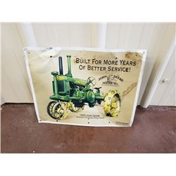 NO RESERVE COLLECTIBLE JOHN DEERE SIGN