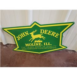NO RESERVE LARGE COLLECTIBLE JOHN DEERE SIGN