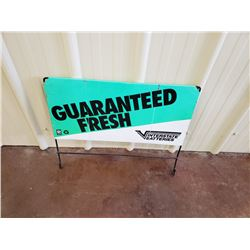 NO RESERVE VINTAGE INTERSTATE BATTERIES HANGING SIGN