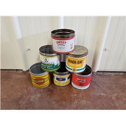 NO RESERVE ASSORTED VINTAGE TOBACCO TINS SIX SELLING AS ONE LOT
