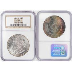 1884-O $1 Morgan Silver Dollar Coin NGC MS64 Amazing Toning