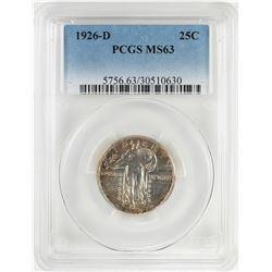 1926-D Standing Liberty Quarter Coin PCGS MS63