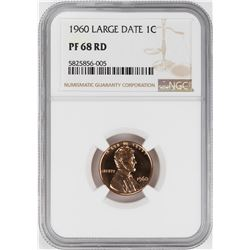 1960 Large Date Proof Lincoln Memorial Cent Coin NGC PF68RD