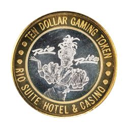 .999 Silver Rio Suite Hotel & Casino Las Vegas $10 Limited Edition Gaming Token