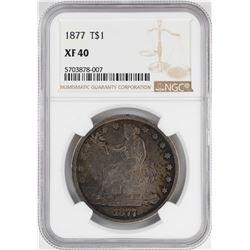 1877 $1 Trade Silver Dollar Coin NGC XF40