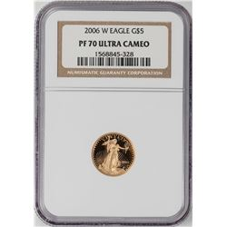 2006-W Proof $5 American Gold Eagle Coin NGC PF70 Ultra Cameo