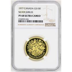 1977 Canada $100 Silver Jubilee Commemorative Gold Coin NGC PF68 Ultra Cameo