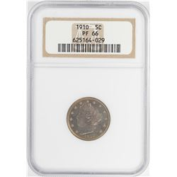 1910 Proof Liberty V Nickel Coin NGC PF66