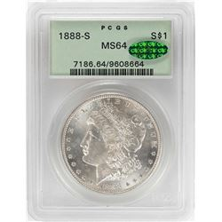 1888-S $1 Morgan Silver Dollar Coin PCGS MS64 CAC OGH