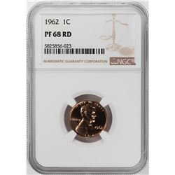 1962 Proof Lincoln Memorial Cent Coin NGC PF68RD