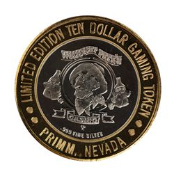 .999 Silver Whiskey Petes Casino Primm, Nevada $10 Limited Edition Gaming Token