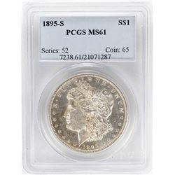 1895-S $1 Morgan Silver Dollar Coin PCGS MS61