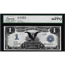 Serial # 23 - 1899 $1 Black Eagle Silver Certificate Note Fr.230 Legacy Gem New 66EPQ