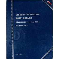 Set of 1916-1936 Walking Liberty Half Dollar Coins in Book