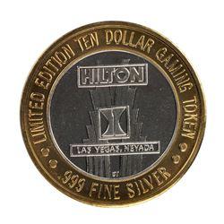 .999 Silver Hilton Las Vegas, Nevada $10 Casino Limited Edition Gaming Token