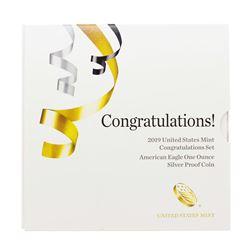 2019-W $1 Congratulations Set Proof American Silver Eagle Coin