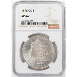 1878-CC $1 Morgan Silver Dollar Coin NGC MS62