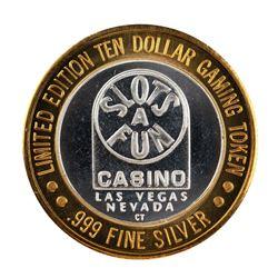 .999 Silver Slots A Fun Casino Las Vegas, NV $10 Limited Edition Casino Gaming Token