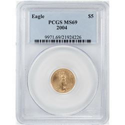 2004 $5 American Gold Eagle Coin PCGS MS69