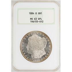 1884-O $1 Morgan Silver Dollar Coin NGC MS63DPL