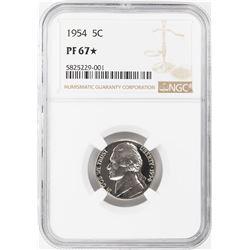 1954 Proof Jefferson Nickel Coin NGC PF67 Star