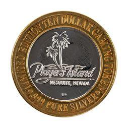 .999 Fine Silver Players Island Casino $10 Casino Limited Edition Gaming Token
